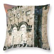 Jerusalem Golden Gate  Throw Pillow