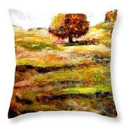 Jerusalem Hills Throw Pillow