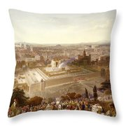 Jerusalem In Her Grandeur Throw Pillow by Henry Courtney Selous