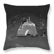 Jerusalem Israel In Monochrome Throw Pillow