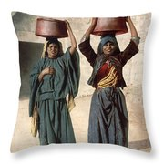 Jerusalem: Milk Seller Throw Pillow