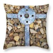 Jerusalem On The Rock Throw Pillow by Deborah Montana