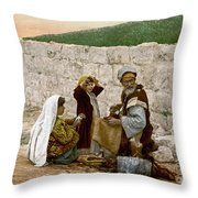 Jerusalem Shoemaker, C1900 Throw Pillow