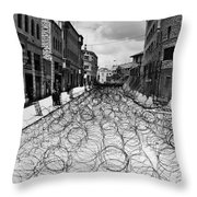 Jerusalem: Street, 1948 Throw Pillow
