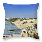 Jerusalem View Throw Pillow