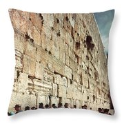 Jerusalem  Wailing Wall - To License For Professional Use Visit Granger.com Throw Pillow