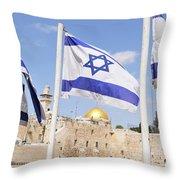 Jerusalem Wailing Wall Throw Pillow