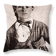 Jesse James (1847-1882) Throw Pillow