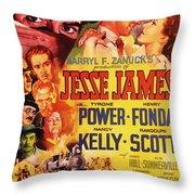 Jesse James 1939 Throw Pillow