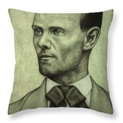 Jesse James Throw Pillow by James W Johnson