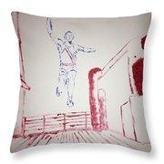 Jesse Owens Throw Pillow