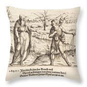 Jesse Sends David To His Brothers And Saul Throw Pillow