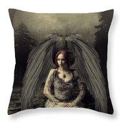 Jessica Angel Throw Pillow