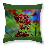 Jessies Berries Throw Pillow