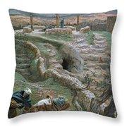 Jesus Alone On The Cross Throw Pillow