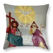 Jesus And Abraham Throw Pillow
