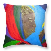 Jesus And His Mother Mary Throw Pillow