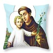 Jesus And Saint Anthony Throw Pillow