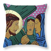 Jesus And The Women Of Jerusalem Throw Pillow