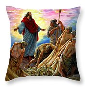 Jesus Appears To The Fishermen Throw Pillow
