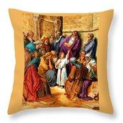 Jesus As A Child Throw Pillow