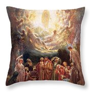 Jesus Ascending Into Heaven Throw Pillow by William Brassey Hole