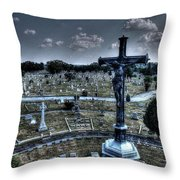 Jesus At Calvary Throw Pillow