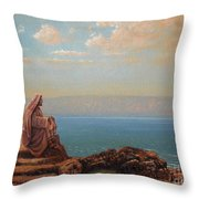 Jesus By The Sea Throw Pillow