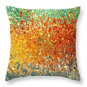 Jesus Christ Seed Of Woman Throw Pillow by Mark Lawrence