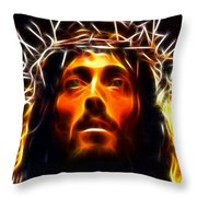 Jesus Christ The Savior Throw Pillow