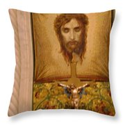 Jesus Face Throw Pillow