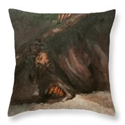 Jesus Falls The Second Time Throw Pillow