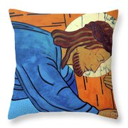 Jesus Falls Under The Cross Throw Pillow