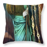 Jesus In Hebron Throw Pillow