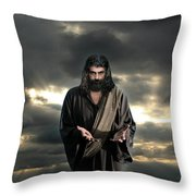 Jesus In The Clouds With Glory Throw Pillow