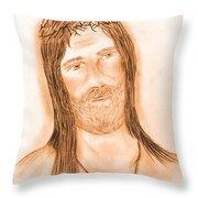 Jesus In The Light Throw Pillow