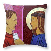 Jesus Is Condemned Throw Pillow