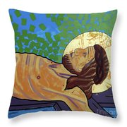 Jesus Is Nailed To The Cross Throw Pillow