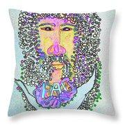 Jesus King Of Peace Throw Pillow