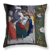 Jesus: Last Supper Throw Pillow