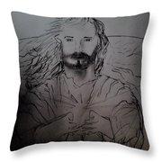Jesus Light Of The World Full Throw Pillow