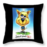 Jesus Loves Me Throw Pillow by Shevon Johnson
