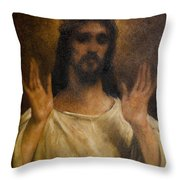 Jesus Meets The Daughters Of Jerusalem. Jesus Comfort Them. 8. Station Of The Cross Throw Pillow