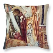 Jesus & Moneychanger Throw Pillow