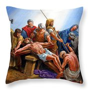 Jesus Nailed To The Cross Throw Pillow