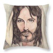 Jesus Of Nazereth Throw Pillow