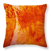 Jesus On Calvary Meets His Mother Mary Throw Pillow