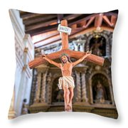 Jesus On The Cross In San Ramon, Bolivia Throw Pillow