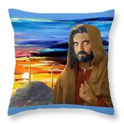 Jesus Sees Us Throw Pillow