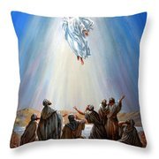 Jesus Taken Up Into Heaven Throw Pillow